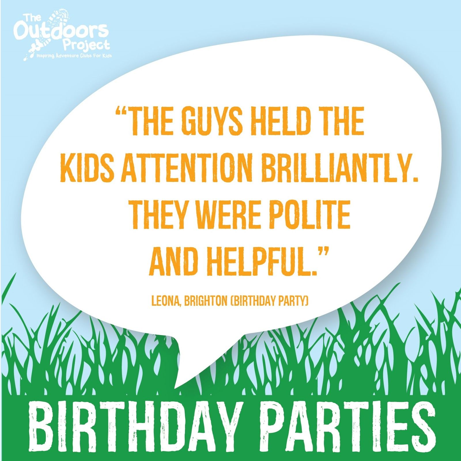 We are getting some amazing feedback about our parties!