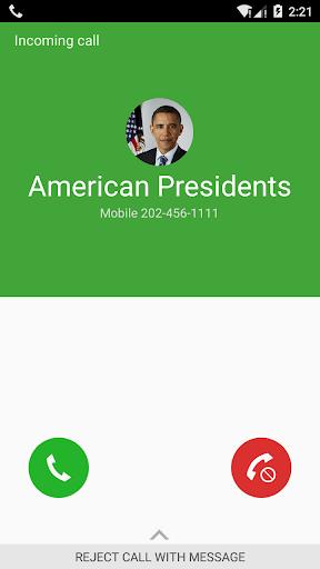 偽のコール のメッセージ