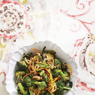 Stir-Fried Broccoli Florets, Stems, and Leaves