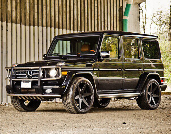 Photo: DUB.1One Six Matte Black Wheels on Mercedes-Benz G55