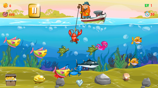 Gold miner, Fishing, gold rush apkmr screenshots 2