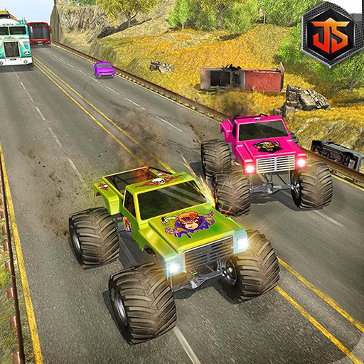 Highway Traffic Monster Truck Racer: Endless Game