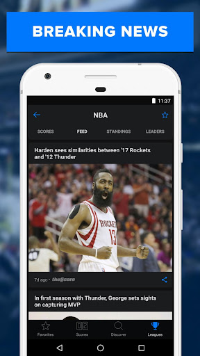 theScore: Live Sports News, Scores, Stats & Videos 6.5.2 screenshots 4