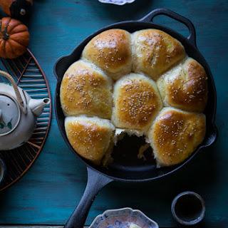 Pumpkin Custard Baked Buns (8 Large Buns) Recipe