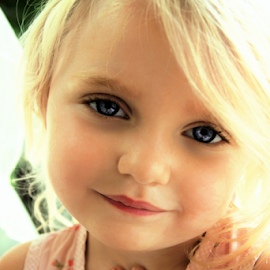 Blonde Sweetheart by Cheryl Korotky - Babies & Children Child Portraits