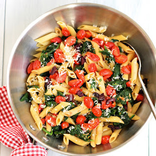 Pasta Cherry Tomatoes Spinach Recipes.