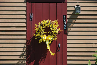 Photo: Colorful door on Pemaquid peninsula