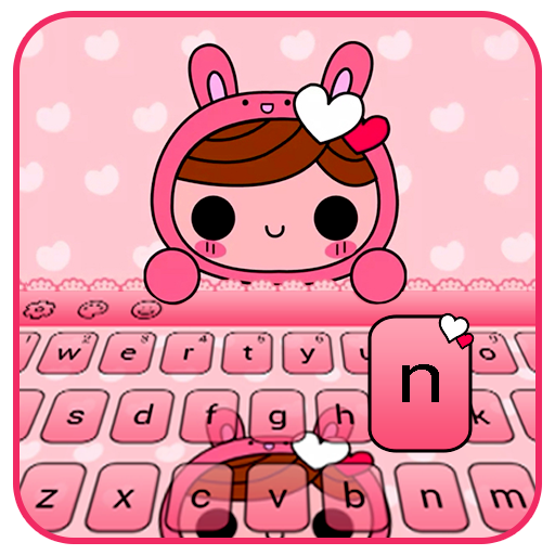 Pink Doll Keyboard Theme