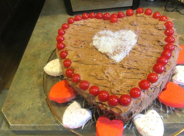 Heart Beets Of Love Cake  W/ Choc Crm Chse Frstng Recipe