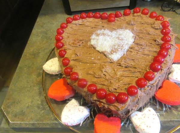 Heart Beets Of Love Cake W/ Choc Cream Cheese Frosting