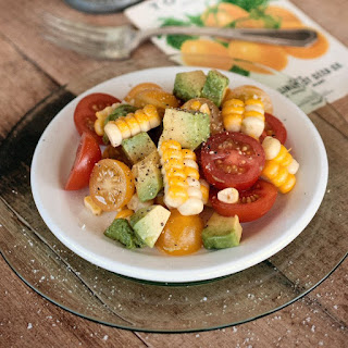 Corn, Tomato, and Avocado Salad.