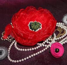 Photo: Маки из органзы-очень воздушный... Цветы из ткани - цветоделие - Татьяна, Самара