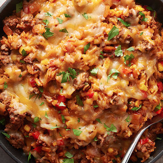 Tex-Mex Beef and Rice Skillet.