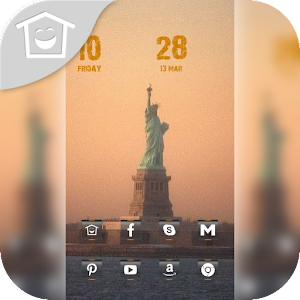 Pink Statue of Liberty theme