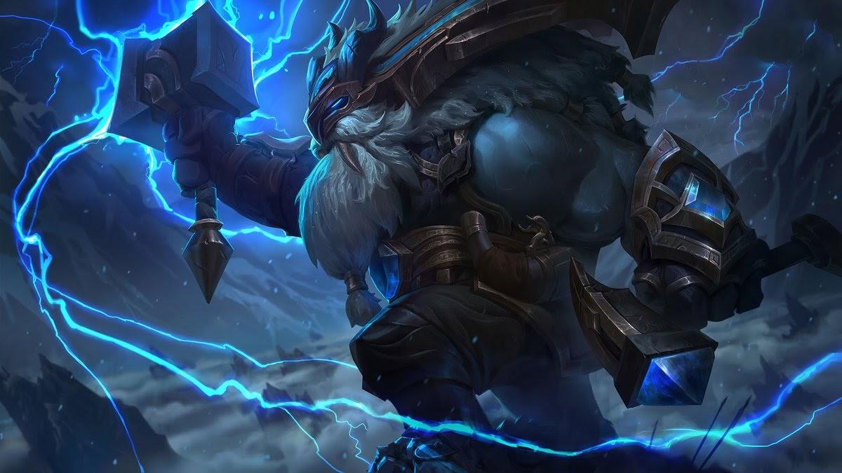 Skin de Ornn. ¿Alguna similitud con el dios Thor?.