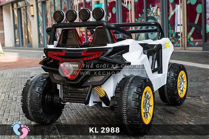 Xe ô tô điện đồ chơi trẻ em KL-2988 ghế da 9
