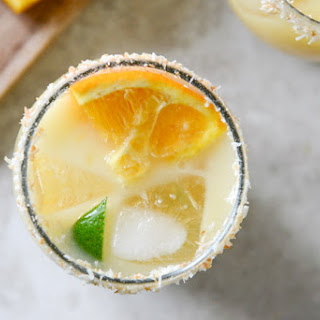 Coconut Creamsicle Margaritas.
