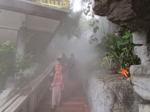 Photo: Misty stairwell up to the Golden Mount