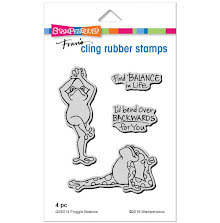 Stampendous Cling Stamp - Froggie Balance