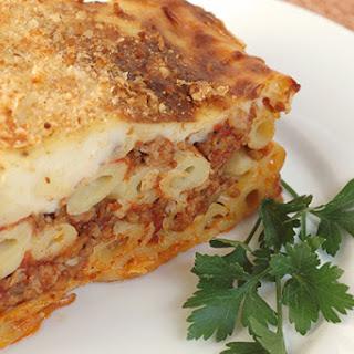Pastitsio - Greek Meat and Pasta Pie.