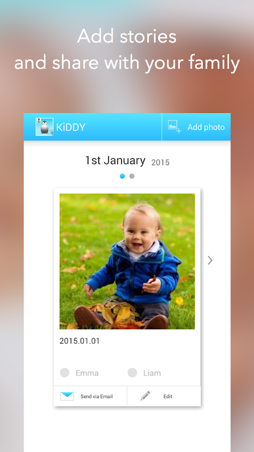 KiDDY dairy,journal for family- screenshot