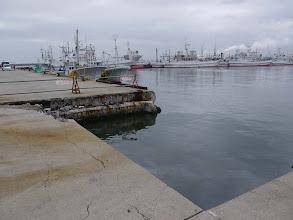 Photo: まだ津波の跡が残る小名浜漁港。