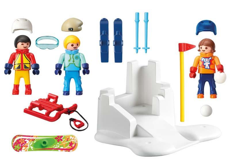 Contenido real de Playmobil® 9283 Lucha de Bolas de Nieve
