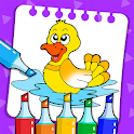 Toddler Coloring Book & Kids Painting Games icon