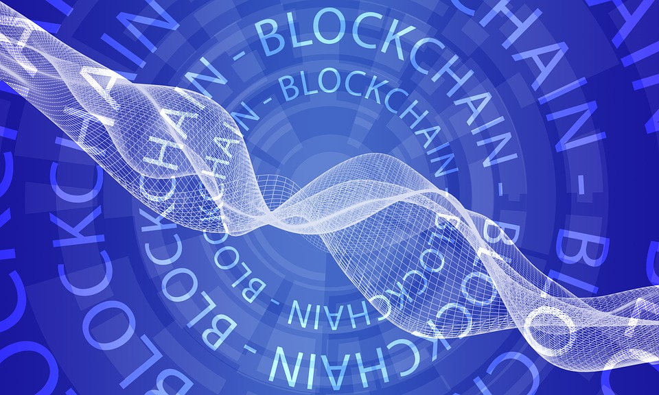 Blockchain blue