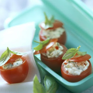 Tomatoes Stuffed with Olives and Cream Cheese.