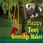 Hariyali Teej Greetings Maker For Teej Messages