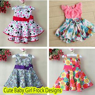 Roztomilá holčička Frock vzory - náhled