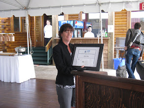 Photo: Darlene Ross receives the 2011 Provincial Learner Achievement Award