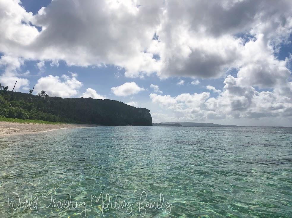 Tanguisson beach sea glass guam