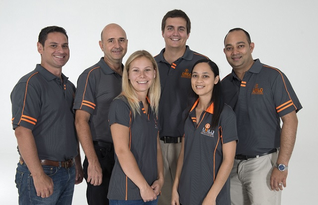 Nelson Mandela University's uYilo eMobility programme, from left, Dr Nico Rust, Prof Ernst Ferg, Natasha Erasmus, Xander Theron, Charmelle Snyders and director Hiten Parmar