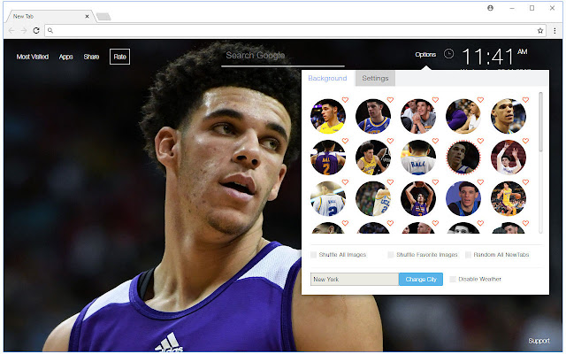 Lonzo Ball Hd Wallpaper Nba New Tab Themes Sportify Tab