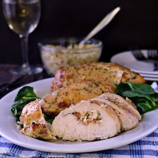Garlic and Herb Stuffed Chicken Breast.
