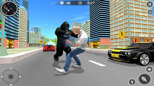 Gorilla City Simulator - Rope Hero Gorilla Game  captures d'écran 2