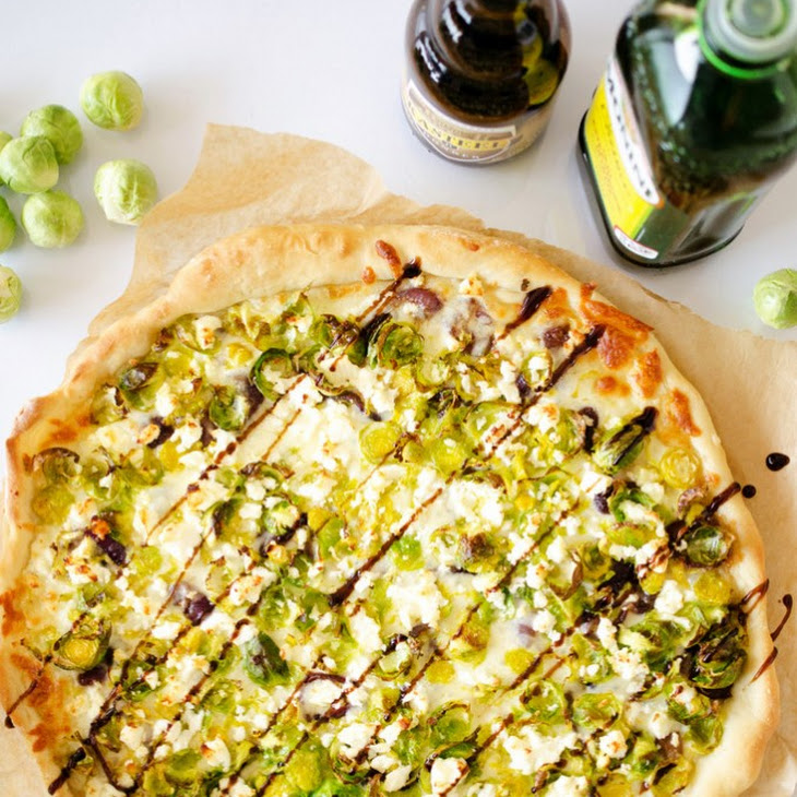 Beer Caramelized Onion and Brussels Sprout Pizza Recipe