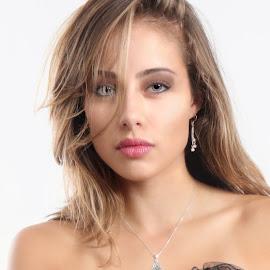 Krystyn Hot Portrait by Len Lambert - People Portraits of Women ( sexy, gorgeous, hot, hair, eyes,  )