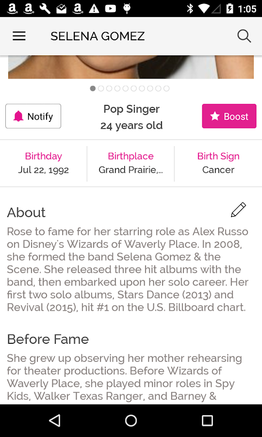 Famous Birthdays- screenshot