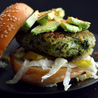 Green Vegetable Burger [Vegan, Gluten-Free].