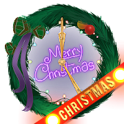3D Neon Christmas Clock Widget