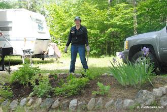 Photo: Gardening at Big Deer State Park by Nicole Olmstead