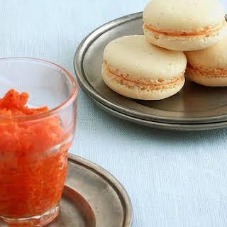 Indian-Inspired Macarons (Cashew Cardamom Carrot Halwa Macarons).