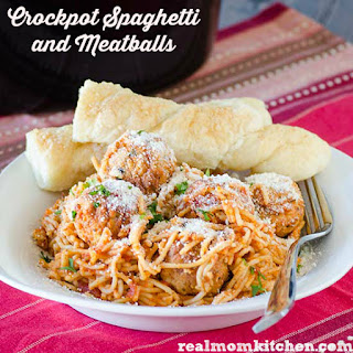 Crockpot Spaghetti and Meatballs.