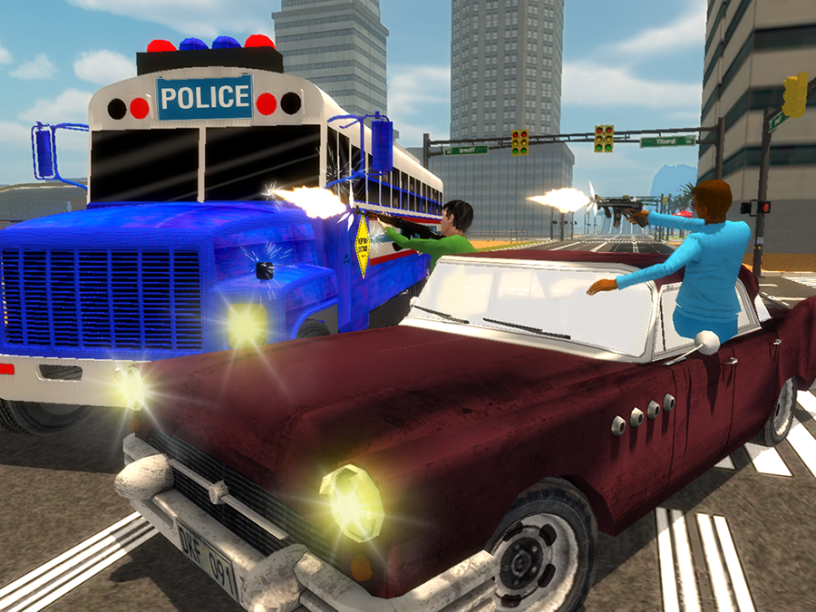Police-Bus-Gangster-Chase 21