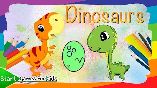 Dinosaurs Zbarvení Knižní Hra - náhled