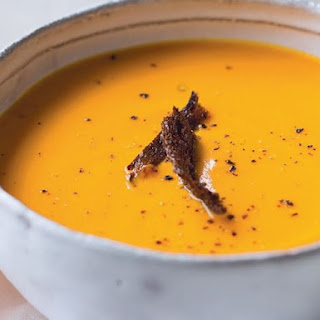 Sweet Potato Soup With Pumpernickel Croutons