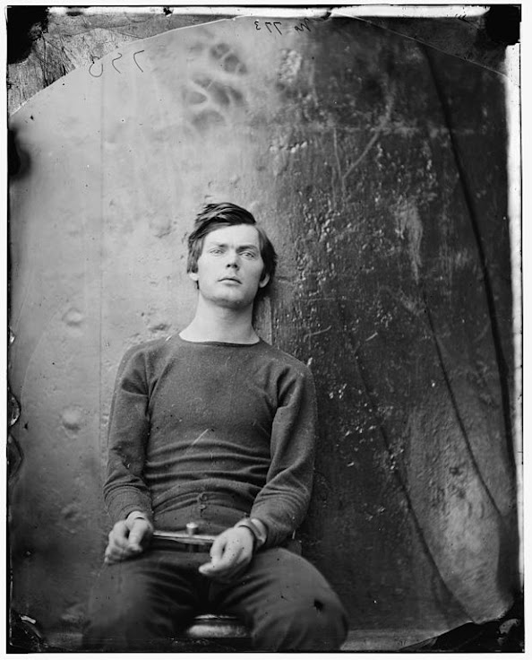 Lewis Powell in handcuffs after his arrest on April 17, 1865.